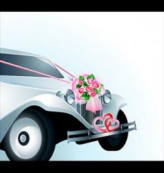 wedding car card vector image