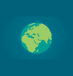world design style for earth day vector image vector image