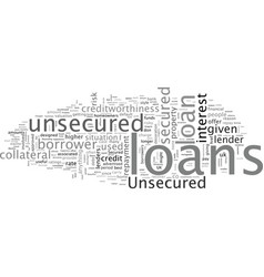A quick guide to unsecured loans vector