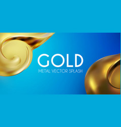 abstract background with 3d gold element golden vector image
