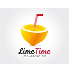 Abstract lime logo template for branding vector image