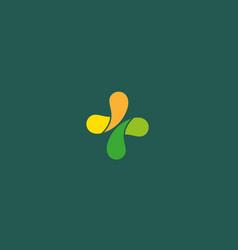 Abstract medical cross logo design color creative vector