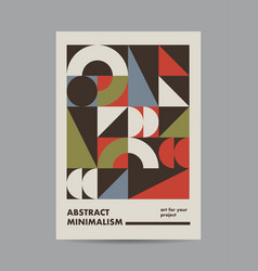 Abstract poster design template vector