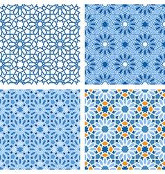 Arabic patterns set vector image