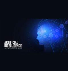 artificial intelligence big data web banner vector image