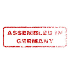 Assembled in germany rubber stamp vector