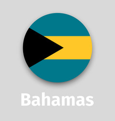 bahamas flag round icon vector image
