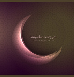 Beautiful shining moon of ramadan and eid festival vector