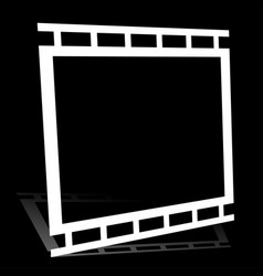 Black and white filmstrip photo strip graphics vector