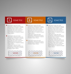Brochure colored modern design element vector image