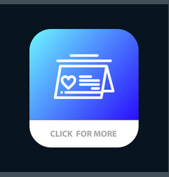 calendar love married wedding mobile app button vector image