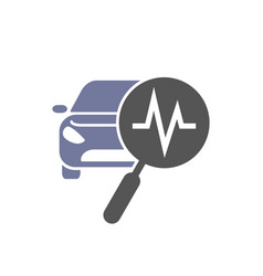 car diagnostic and service icon on white vector image