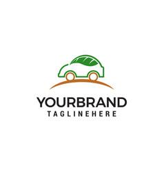 car leaf logo design concept template vector image