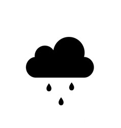 Cloud with falling droplets icon isolated on vector
