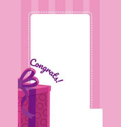 congratulation blank note vector image