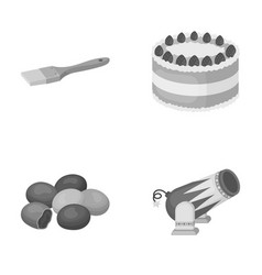 Cooking trade building and other monochrome icon vector