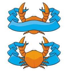 crab banner vector image