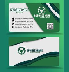 Creative green business card template psd vector