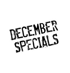 December specials rubber stamp vector
