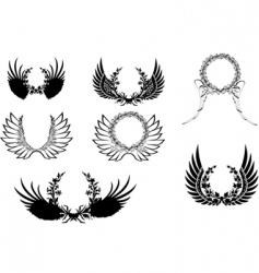 decoprative wreathes vector image