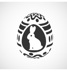 decorative egg vector image