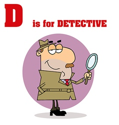 Detective cartoon with letter vector