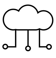 digital cloud icon vector image