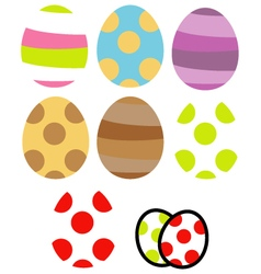 Easter Egg Set vector