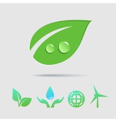 Eco icons collection vector