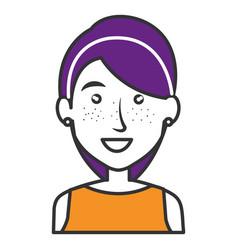 Elegant businesswoman avatar character vector