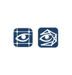 eye care grid scan set vector image