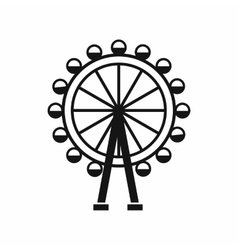 Ferris wheel icon simple style vector image