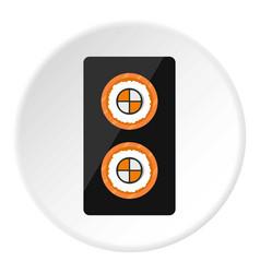 Fish roll icon circle vector