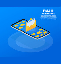 flat for email marketing newsletter marketing vector image