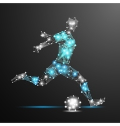football player polygonal vector image