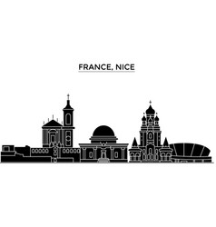 france nice architecture city skyline vector image