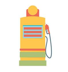Gas station pump with fuel nozzle vector