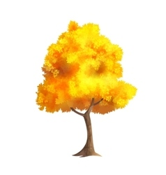 Gold Autumn Tree vector