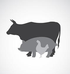 Group animal farm label vector