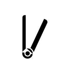hair straightener icon black vector image
