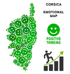 Happiness corsica france island map collage vector