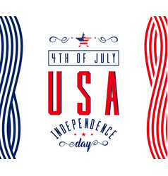happy independence day - july 4th usa - memorial vector image