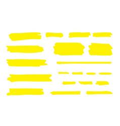 highlight marker line brush pen underline stroke vector image
