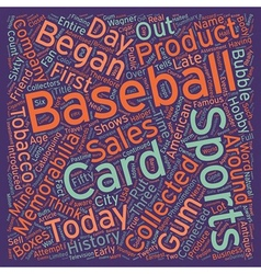 History of Sports Memorabilia text background vector