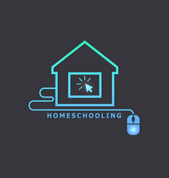 Homeschooling online tuition remotely the vector