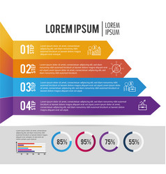 Infographic business information with lorem ipsum vector