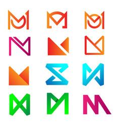 Initial letter m logo design for business vector