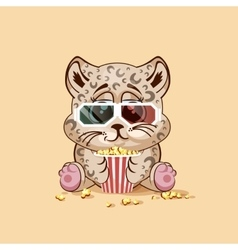 Leopard cub watching a movie vector