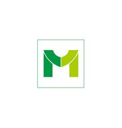 letter m business logo vector image