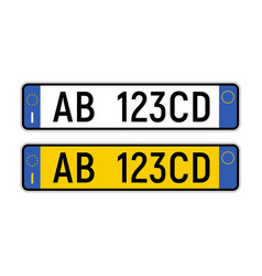 License plate italian number italy licence vector